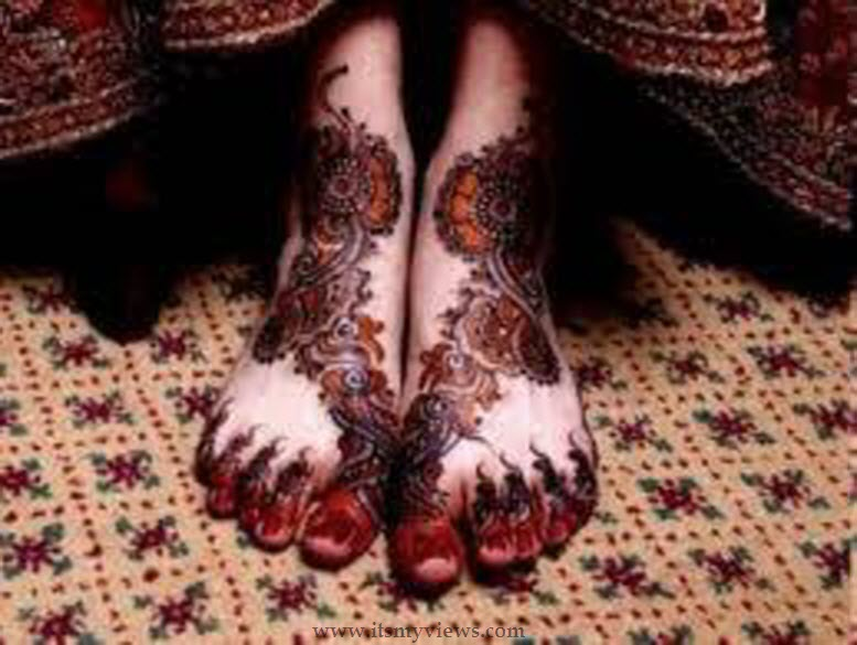 Bridal Mehndi Feet Wallpapers : Latest foot mehndi design for bridal and eid day picture