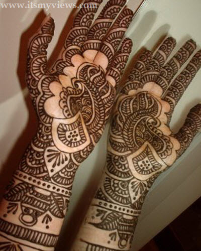 Beautiful Best Simple Easy Full Hands Bridal Mehndi