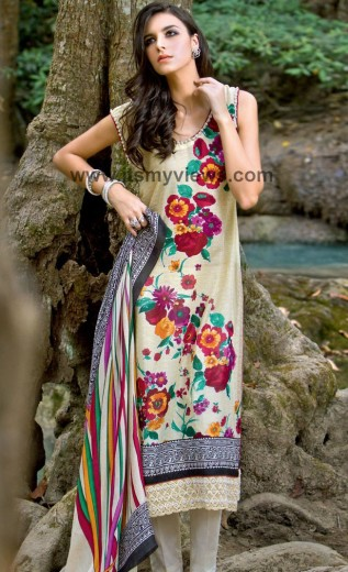 latest-Gul Ahmed Lawn Collection 2013-2014