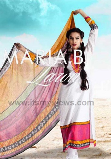 latest-Lawn-Collection-for-summer-by-Maria-B-2013-2014