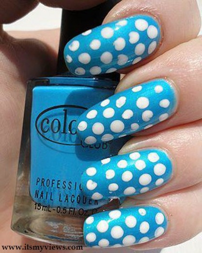 latest-blue-color-beautiful-nail-art-design-2013-2014
