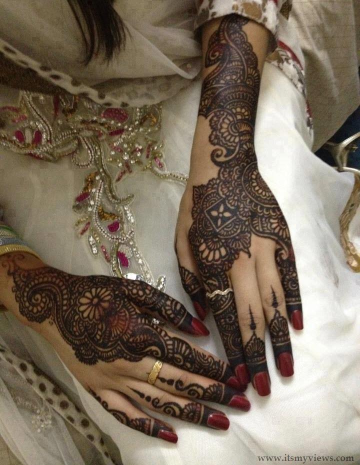 Mehndi Bridal Photos : Bridal mehndi images designs for feet