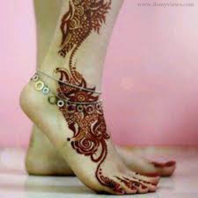 Latest Foot Mehndi Design For Bridal And EID Day Picture