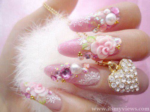 latest-nail-art-design-with-beads-and-stones-2013-2014