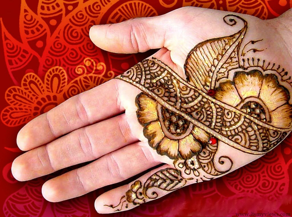 it is awesome bail mehndi design for back hands . it also enhance the ...
