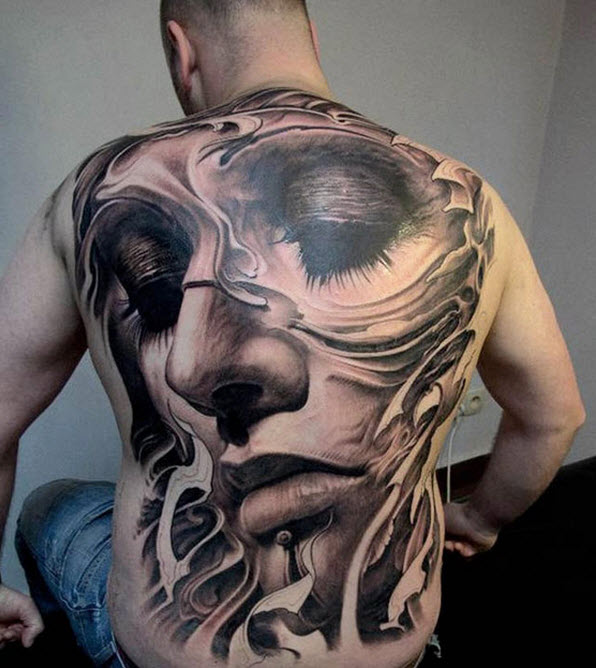 Most-Beautiful-Full-Body-back-tattoo-design of girl picture