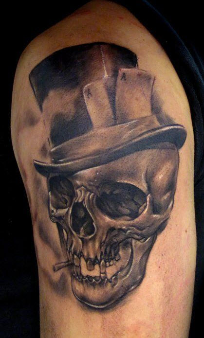 beautiful-skelton-shape-tattoo design for man picture