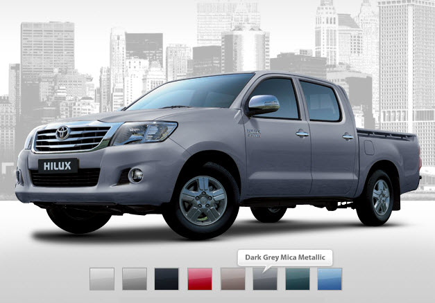 color in vehicle so new toyota Hilux is also available in Blue color