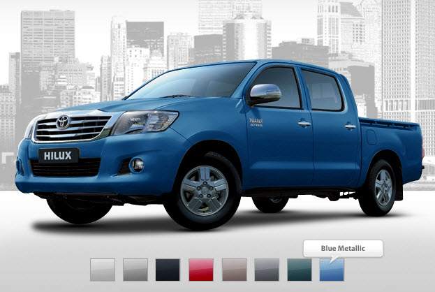 is no problem . Toyota Hilux new model is available in Red color