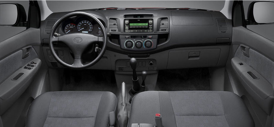 this is interior view of hilux 2013