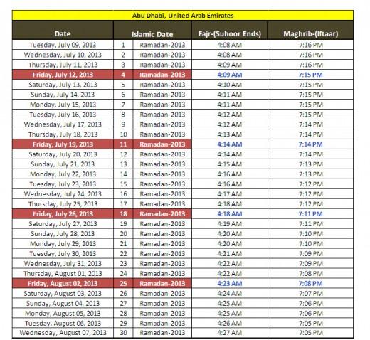 Ramadan-calendar-2013-Abu-Dhabi-UAE-sehri iftar-timing