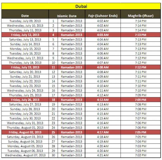Ramadan-calendar-2013-Dubai-sehri iftar timing