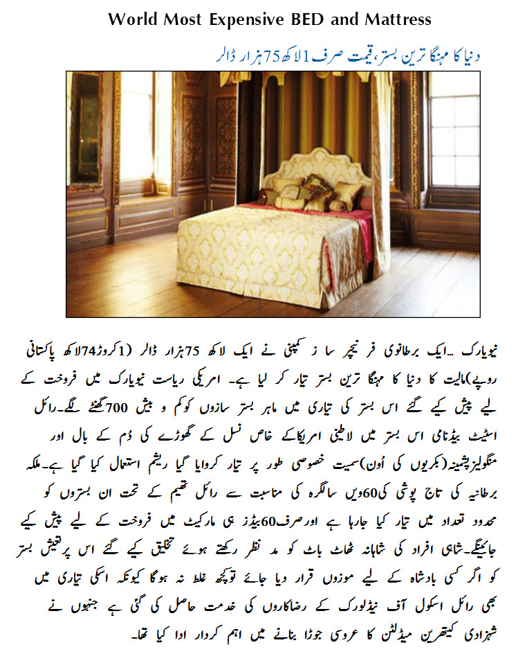 World-Most-Expensive-BED-Mattress-UK-Price