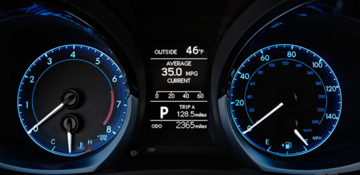 DASH-Board-Speed-meter-toyota-corolla-2014-picture